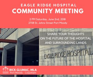 Eagle Ridge Hospital Community Meeting @ Rick Glumac Community Office | Port Moody | British Columbia | Canada